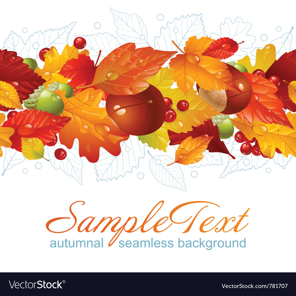 Autumnal seamless horizontal background vector | Price: 3 Credit (USD $3)
