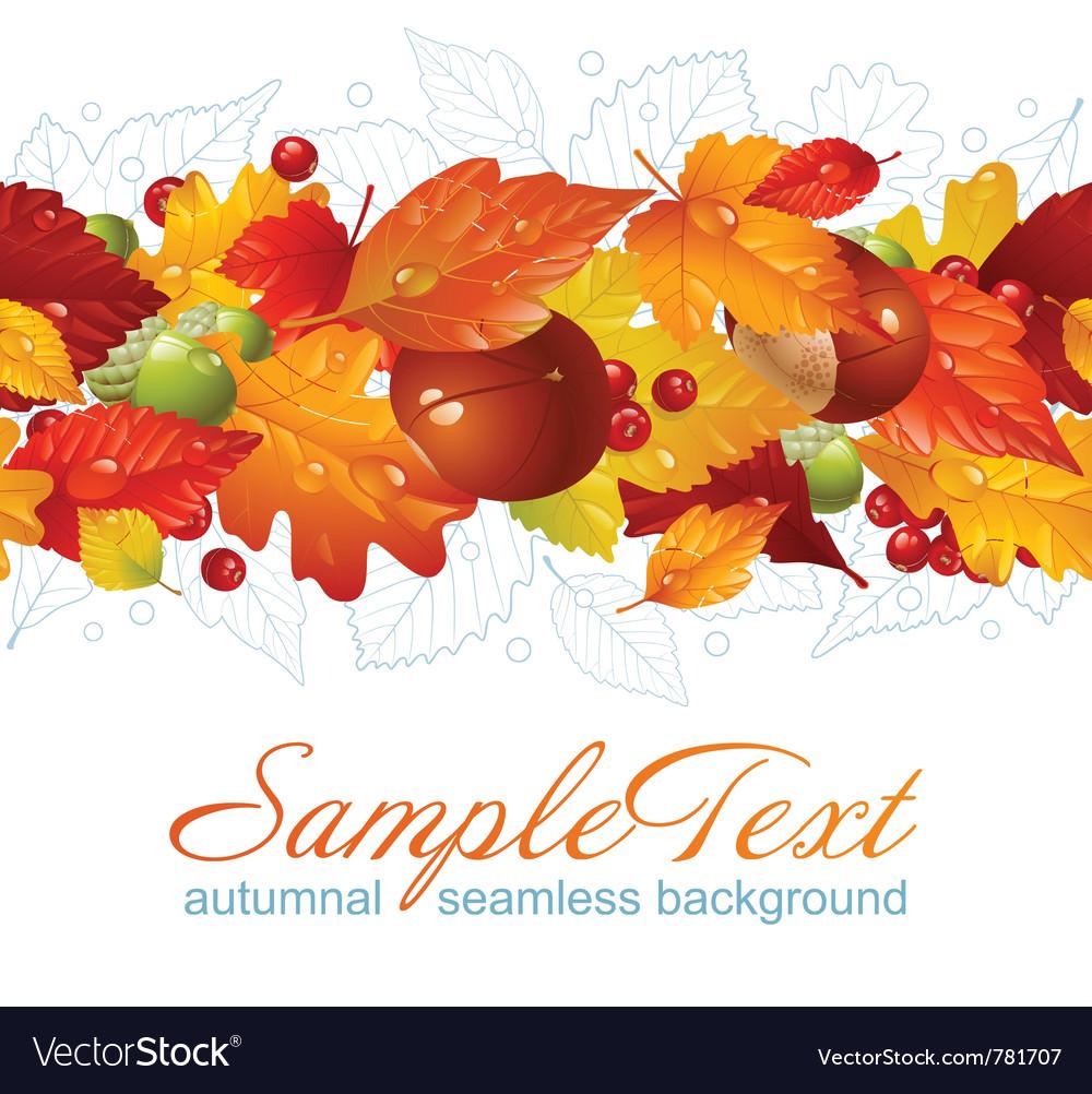Autumnal seamless horizontal background vector | Price: 3 Credit (USD $3)