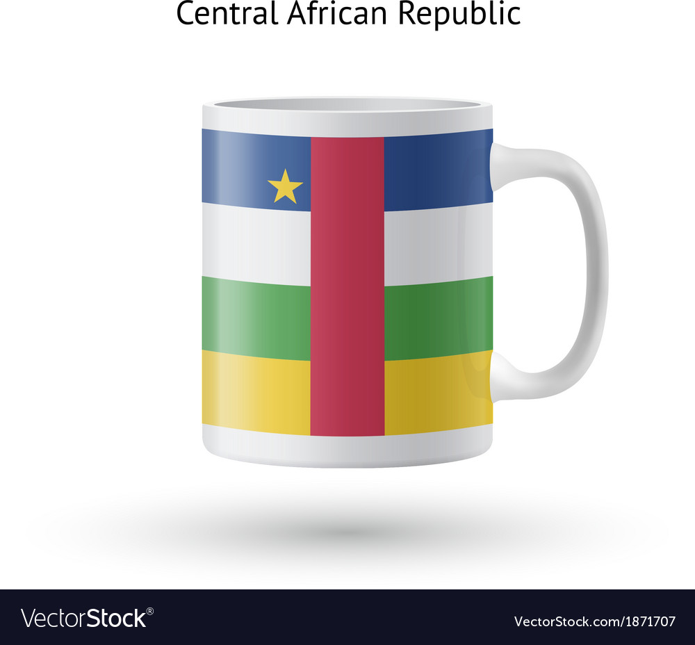 Central african republic flag souvenir mug on vector | Price: 1 Credit (USD $1)