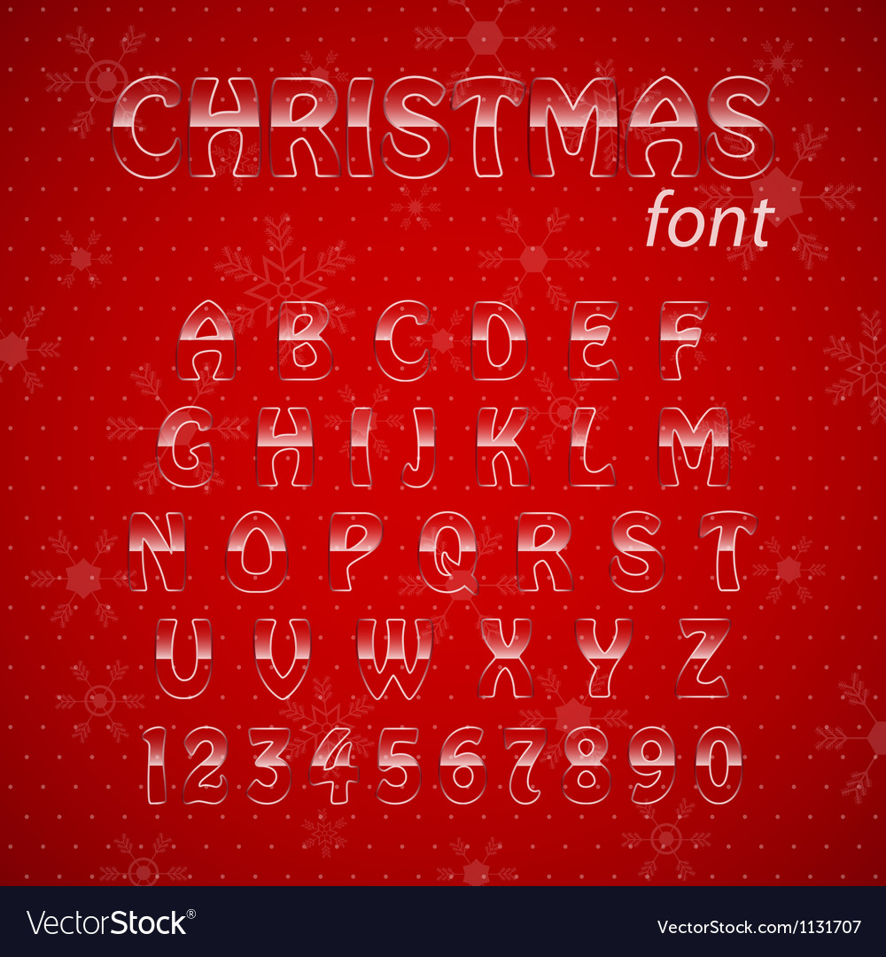 Christmas glass alphabet vector | Price: 1 Credit (USD $1)