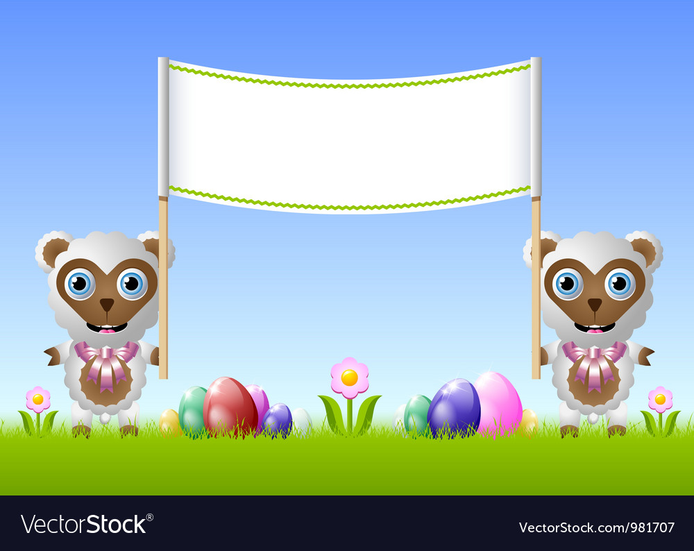 Easter sheeps vector   Price: 1 Credit (USD $1)