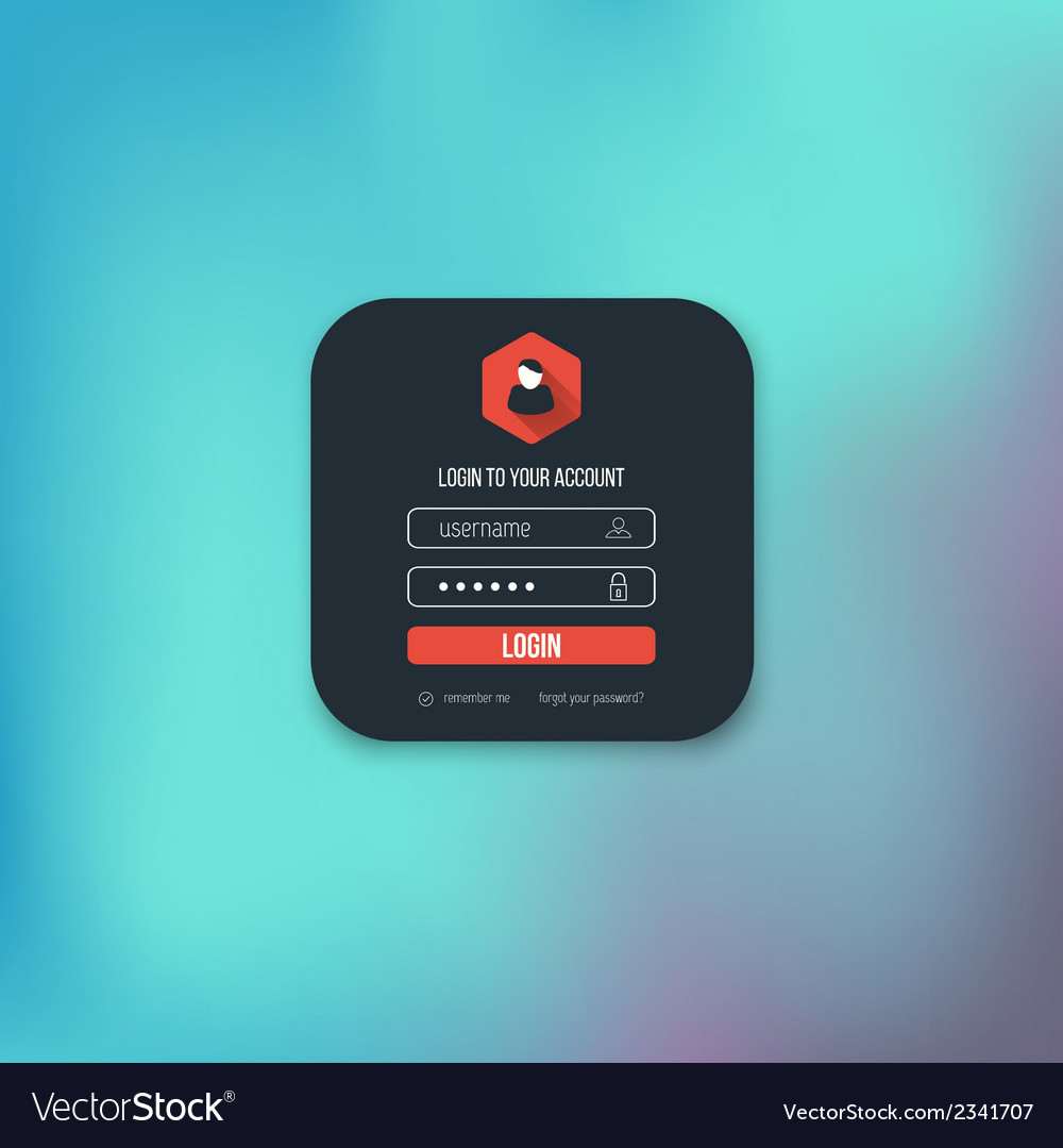 Flat login page vector | Price: 1 Credit (USD $1)
