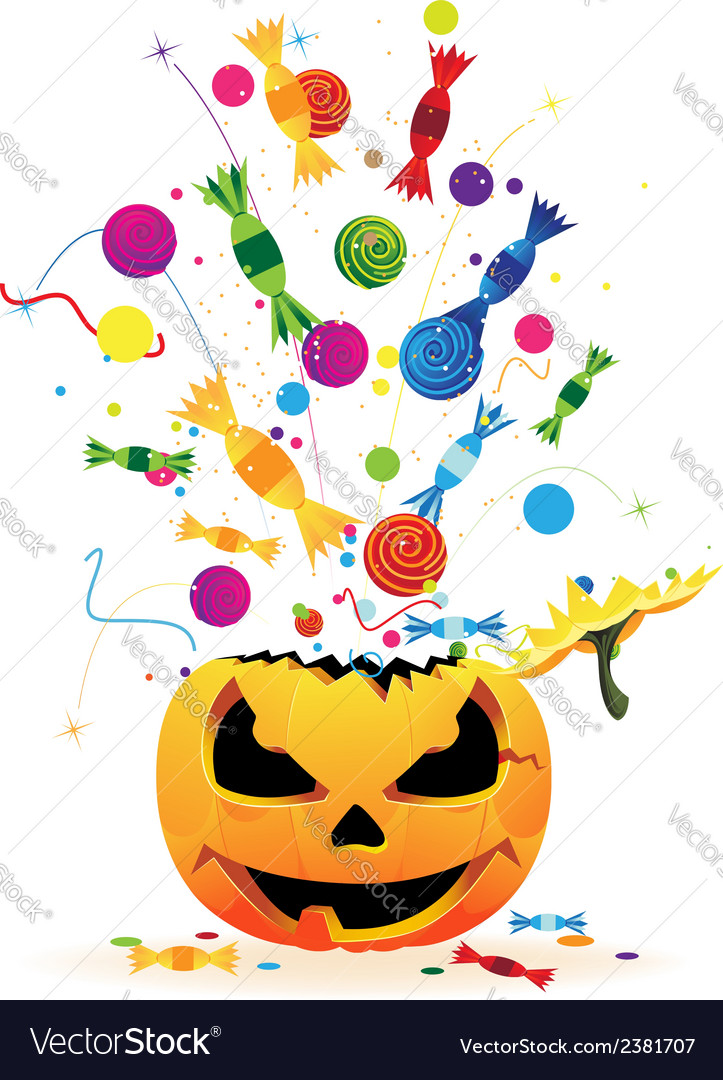Halloween fireworks vector | Price: 1 Credit (USD $1)