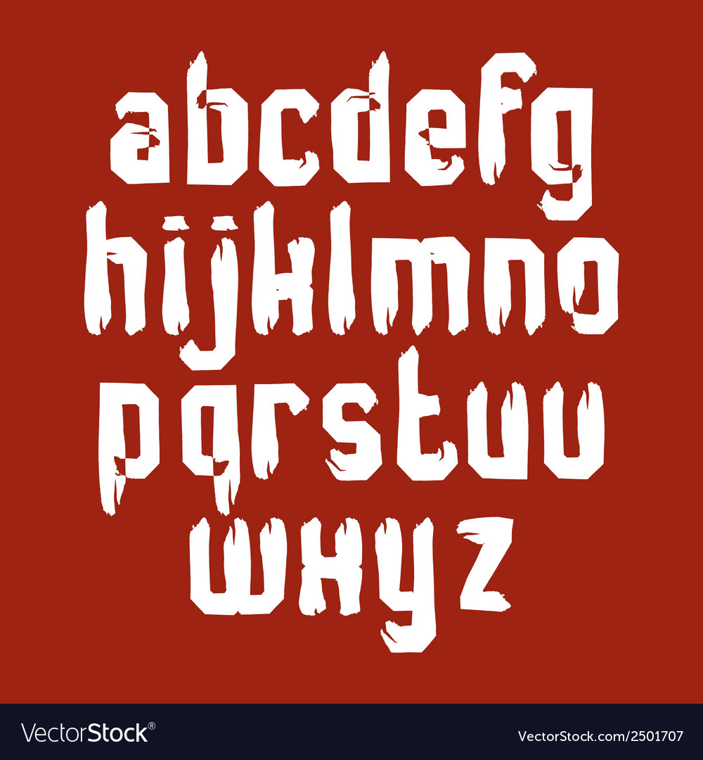 Handwritten white lowercase letters stylish vector | Price: 1 Credit (USD $1)