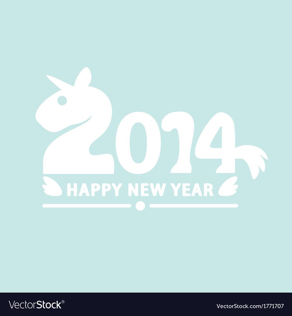 Happy new year 2014 vector | Price: 1 Credit (USD $1)