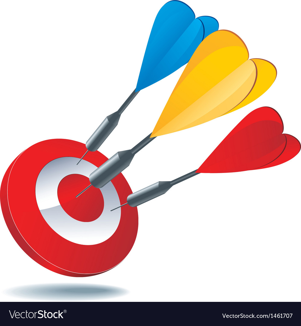 Icon target darts vector | Price: 1 Credit (USD $1)