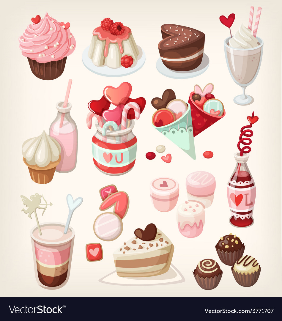 Valentine food vector   Price: 3 Credit (USD $3)