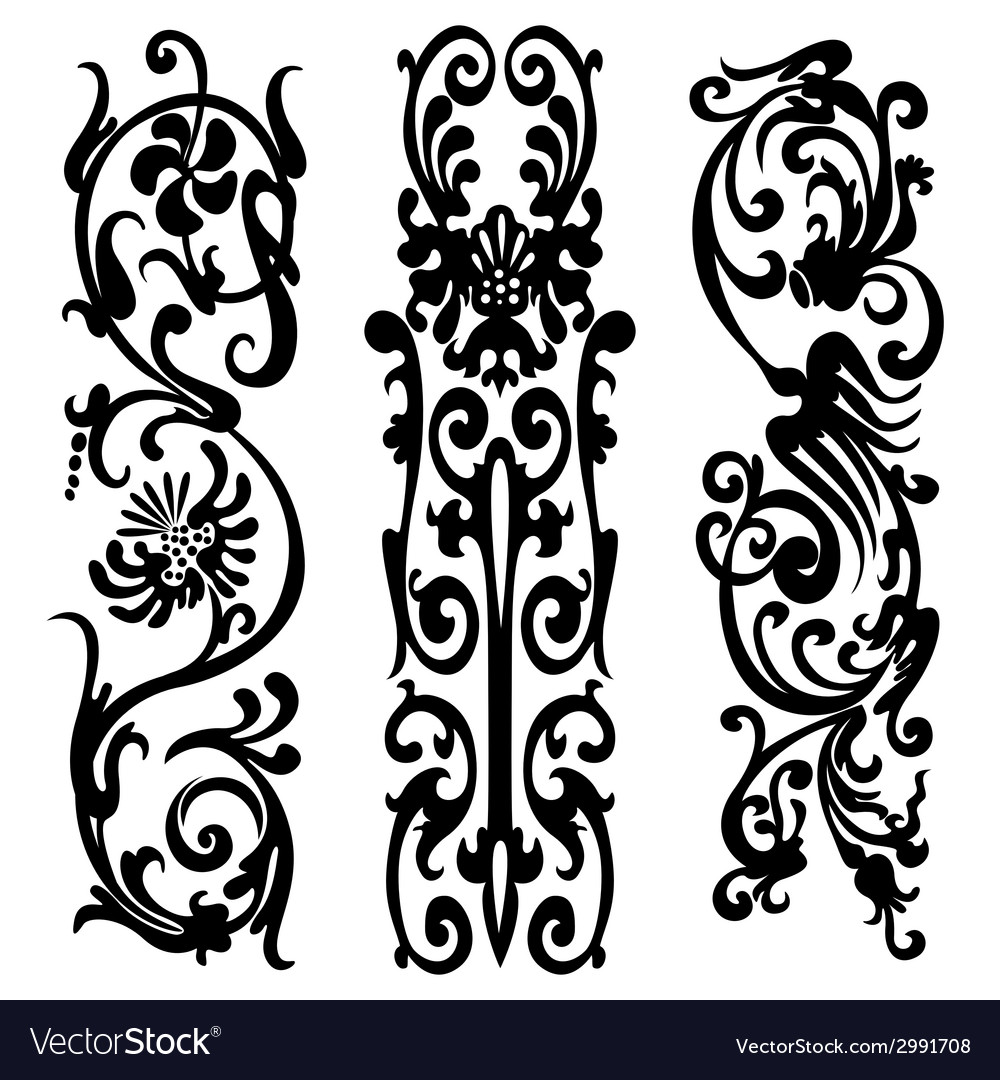 Black silhouette pattern vector | Price: 1 Credit (USD $1)