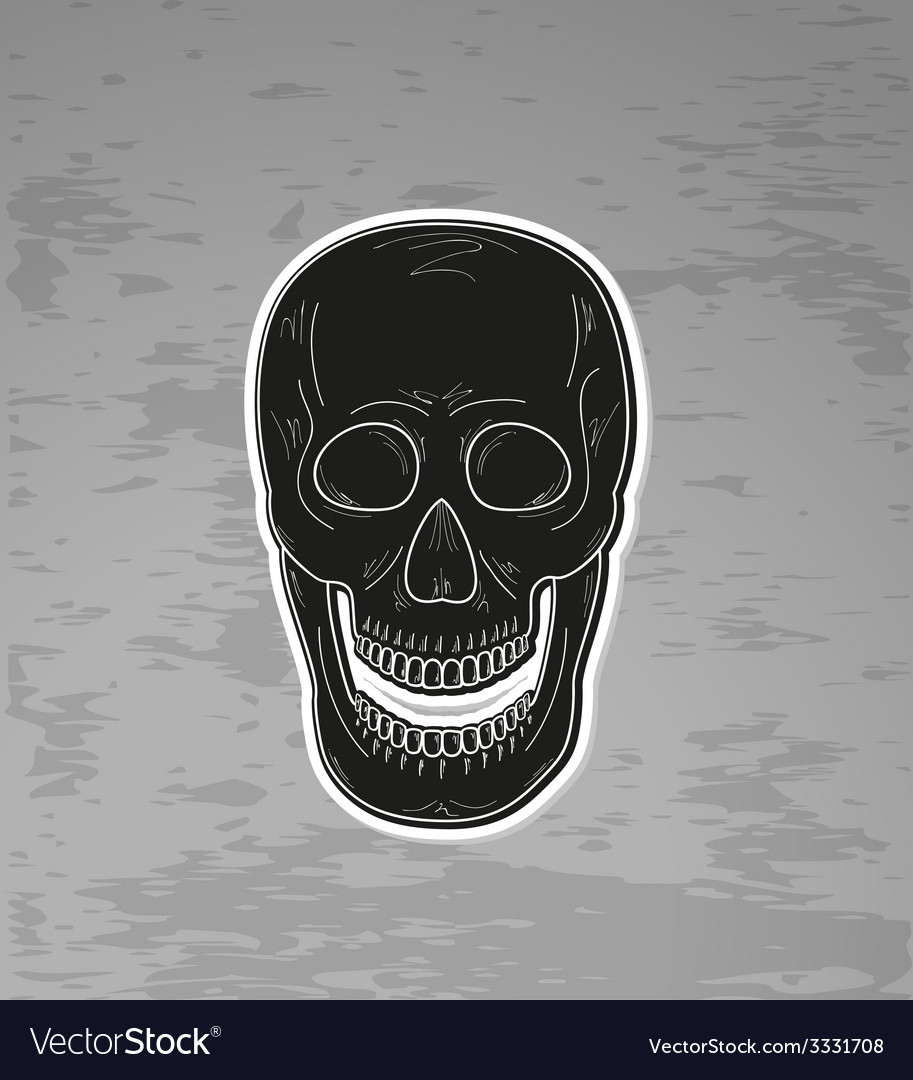 Black skull with open mouth vector | Price: 1 Credit (USD $1)