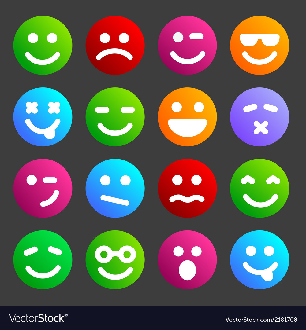 Flat smiley icons vector   Price: 1 Credit (USD $1)