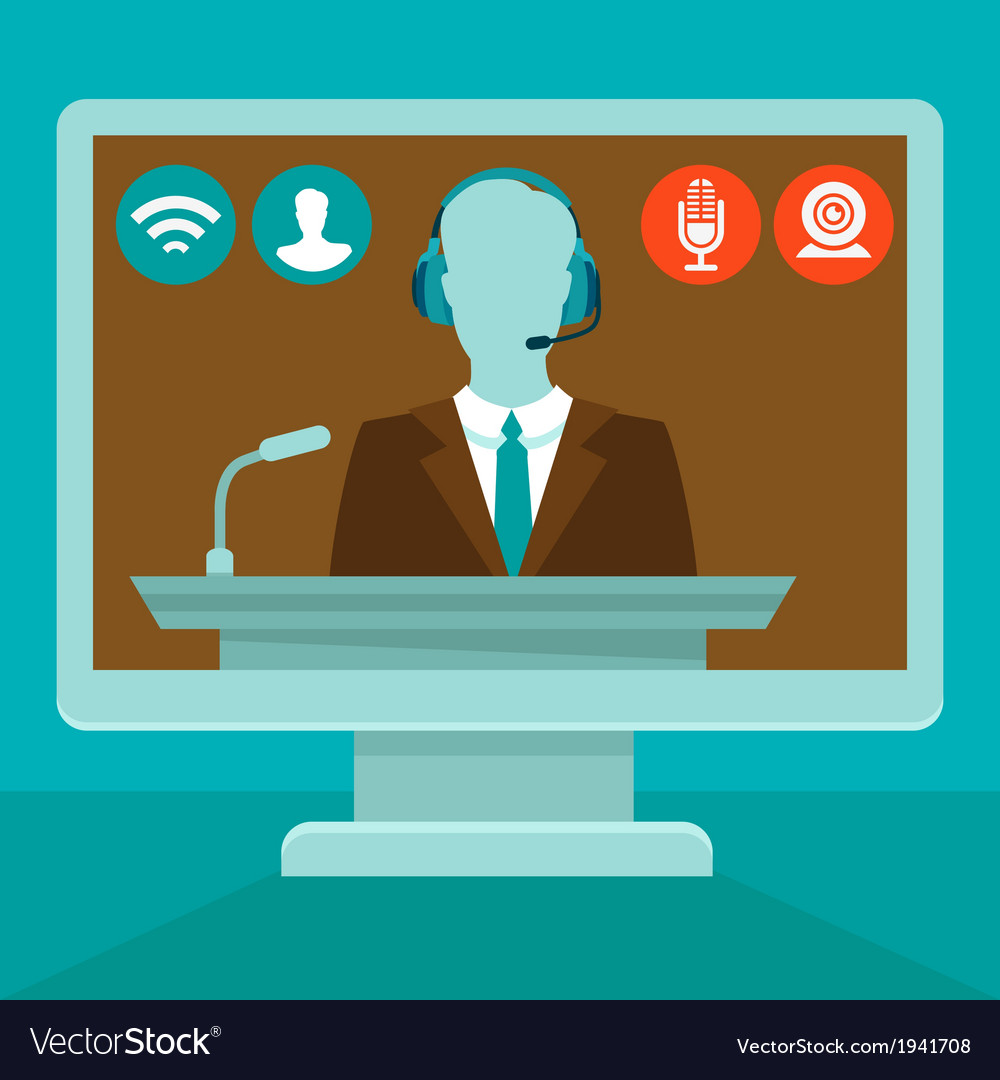 Online conference vector | Price: 1 Credit (USD $1)