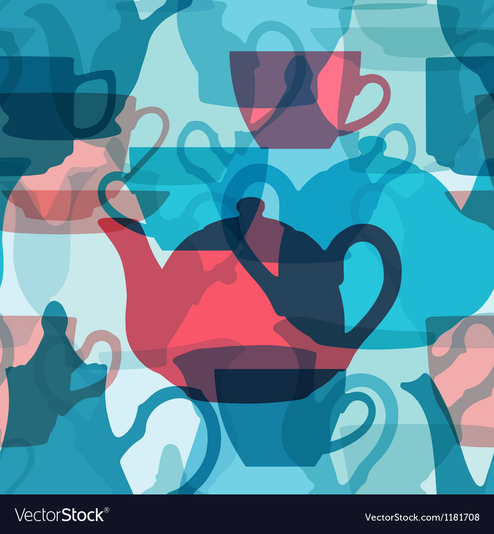 Seamless crockery background with transparency vector | Price: 1 Credit (USD $1)