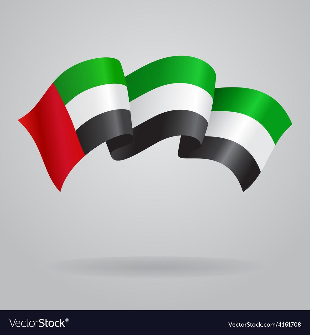 United arab emirates waving flag vector | Price: 3 Credit (USD $3)