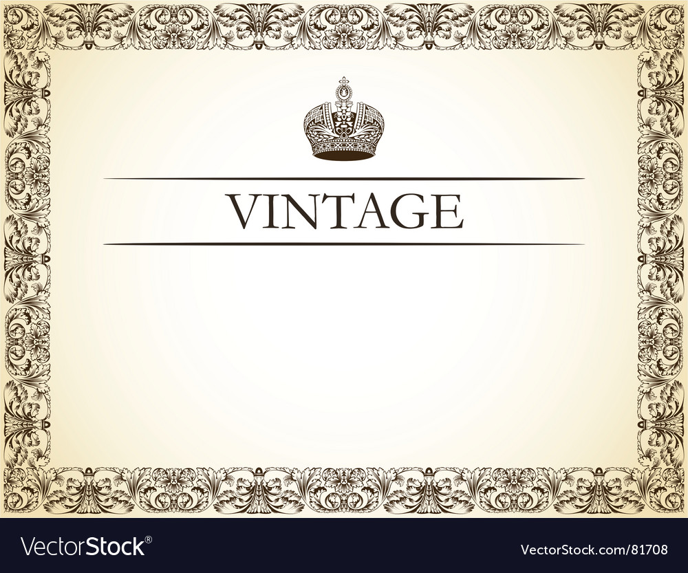 Vintage frame decor vector | Price: 1 Credit (USD $1)