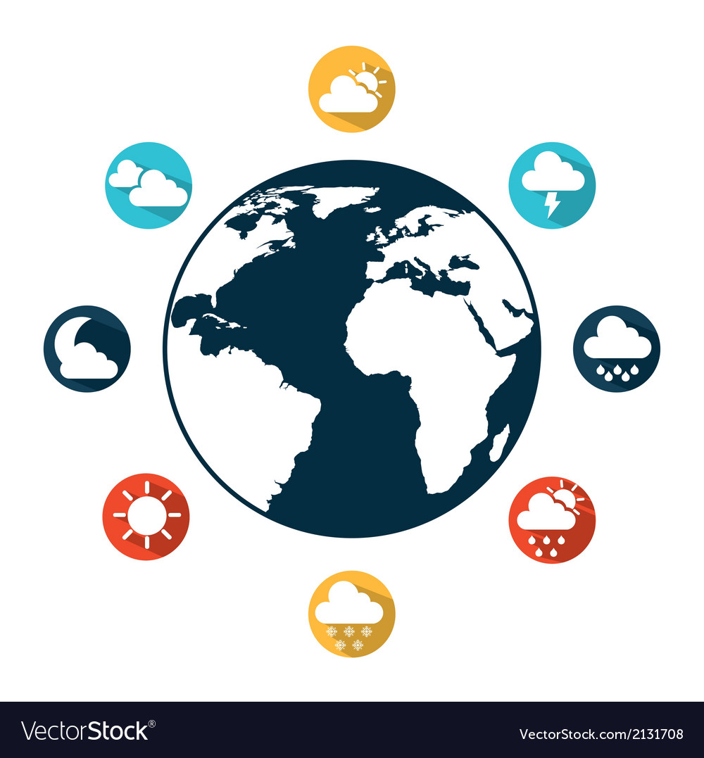 Weather world vector | Price: 1 Credit (USD $1)