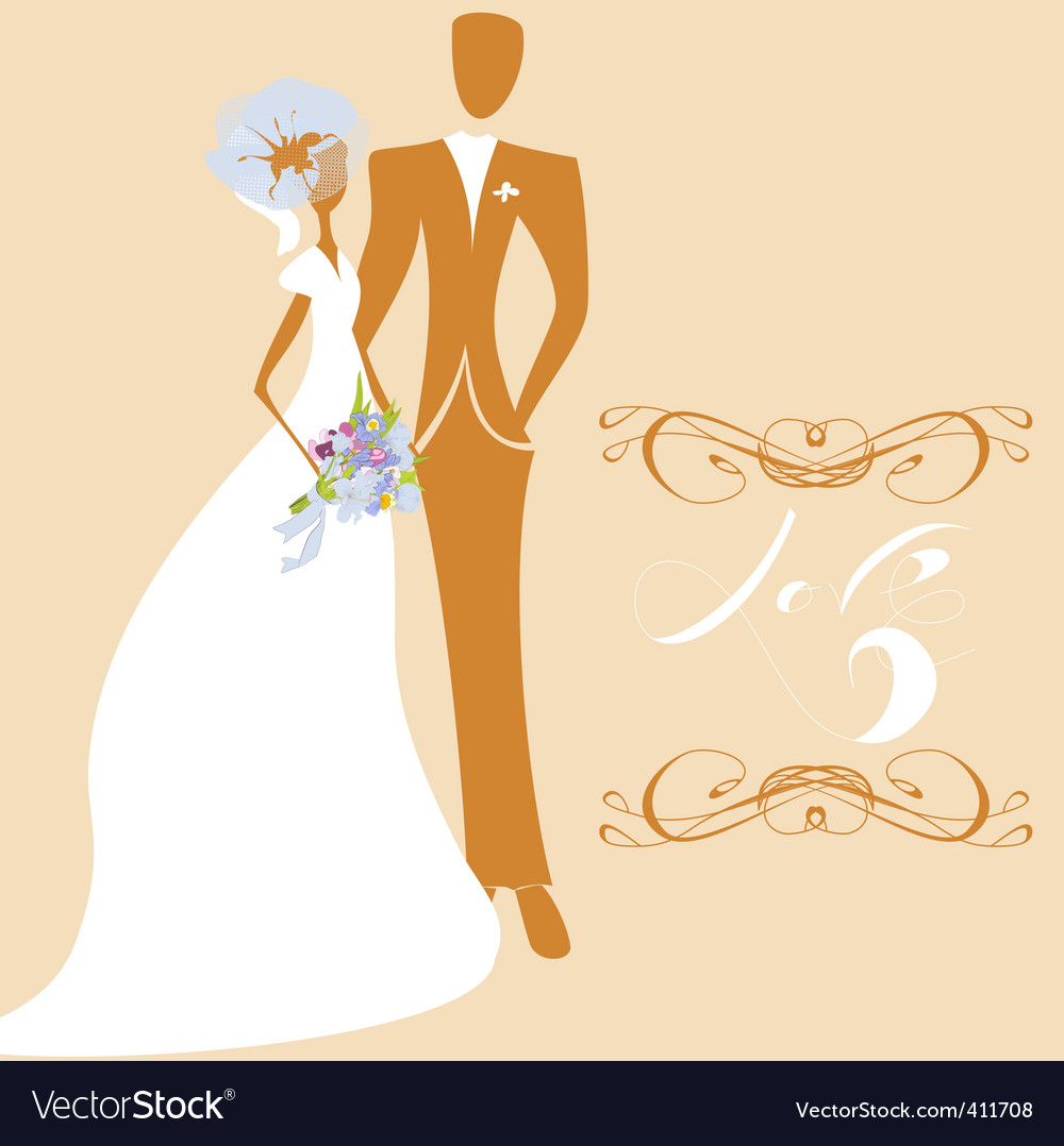 Wedding card with inscription love vector | Price: 1 Credit (USD $1)