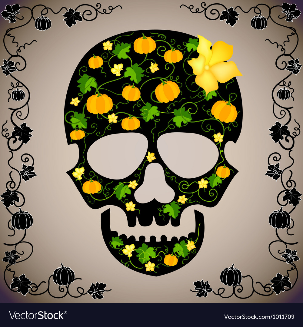 Cheerful background with a skull vector | Price: 1 Credit (USD $1)