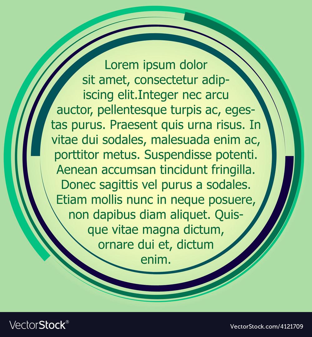 Circular text box label vector | Price: 1 Credit (USD $1)