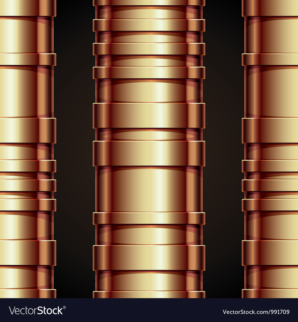 Copper pipeline seamless background vector | Price: 1 Credit (USD $1)