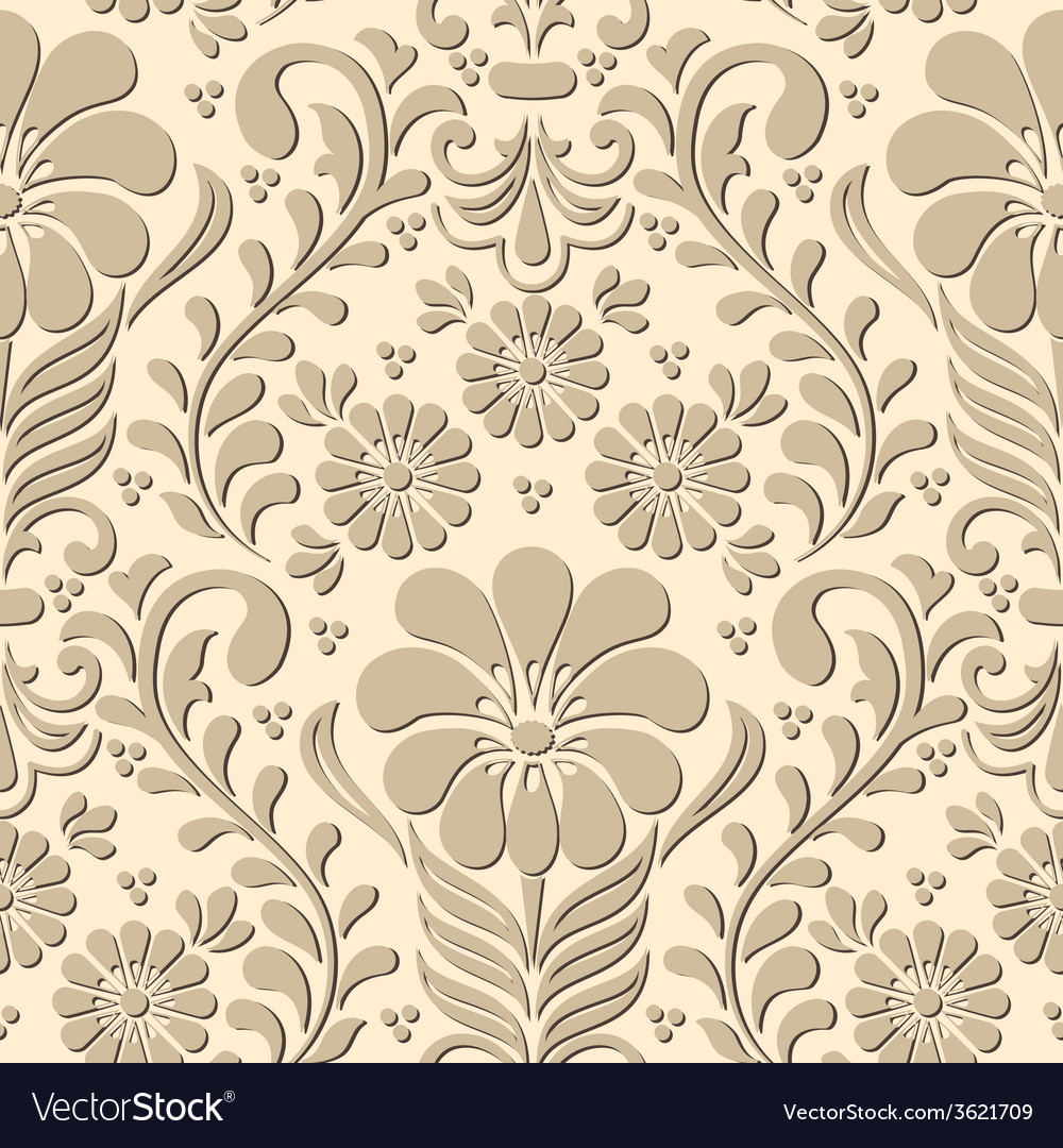 Damask seamless pattern element elegant luxury vector | Price: 1 Credit (USD $1)