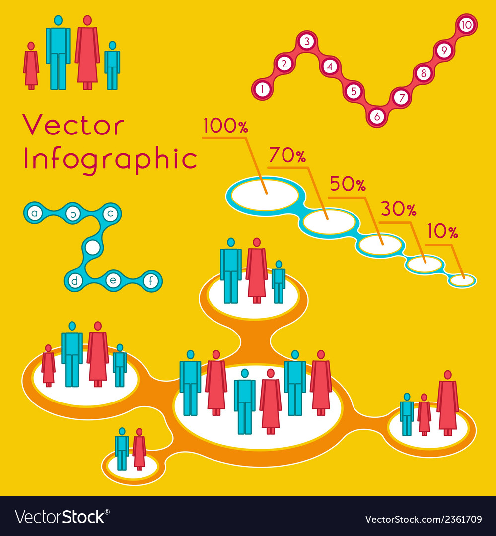 Demographic infographic for presentation vector | Price: 1 Credit (USD $1)