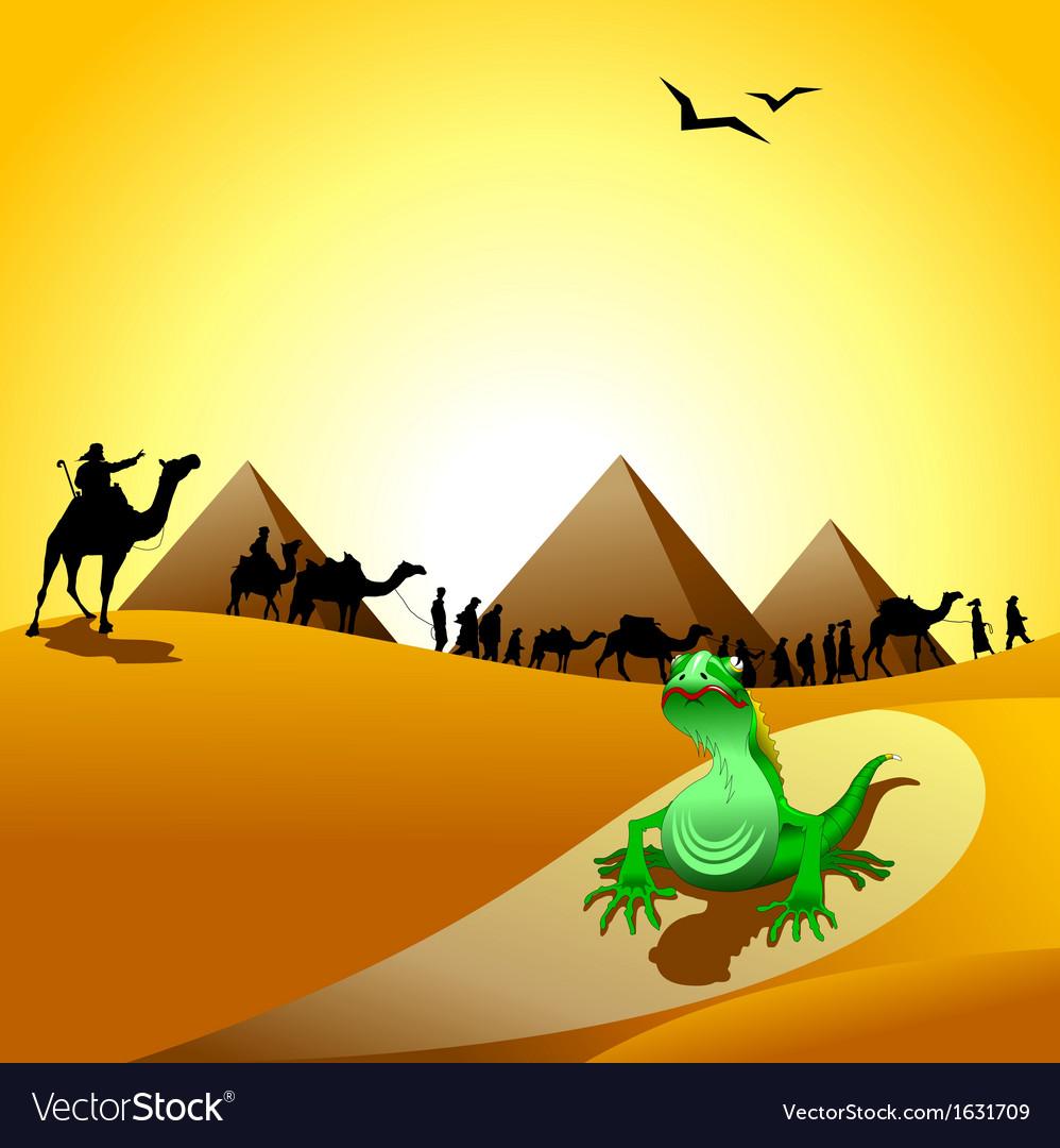 Desert landscape vector   Price: 1 Credit (USD $1)