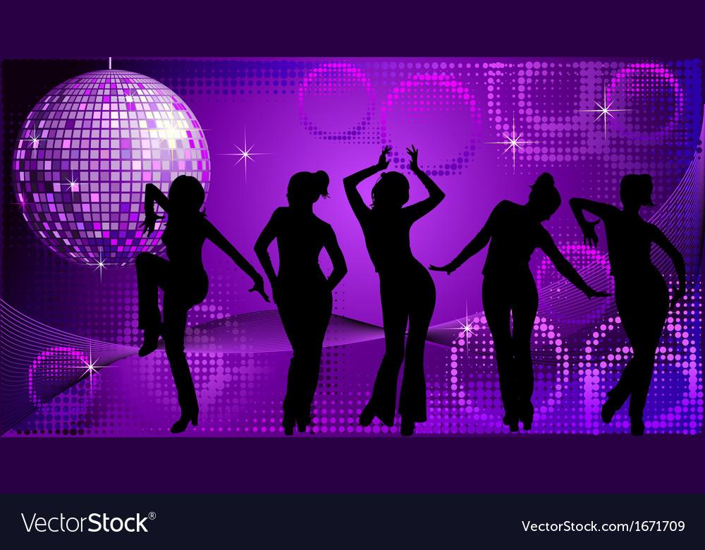 Disco dancing vector | Price: 1 Credit (USD $1)