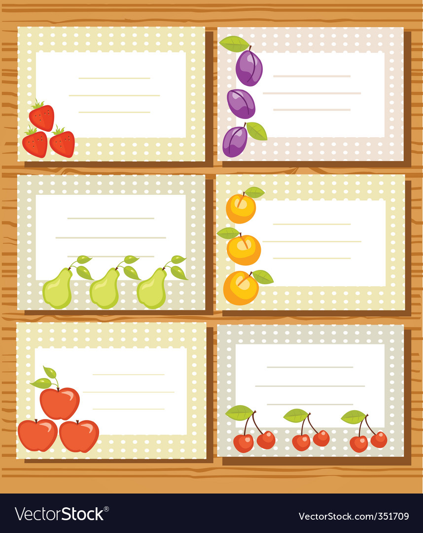 Fruit frames vector | Price: 1 Credit (USD $1)