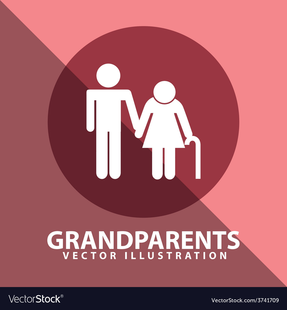 Grandparents silhouettes vector | Price: 1 Credit (USD $1)