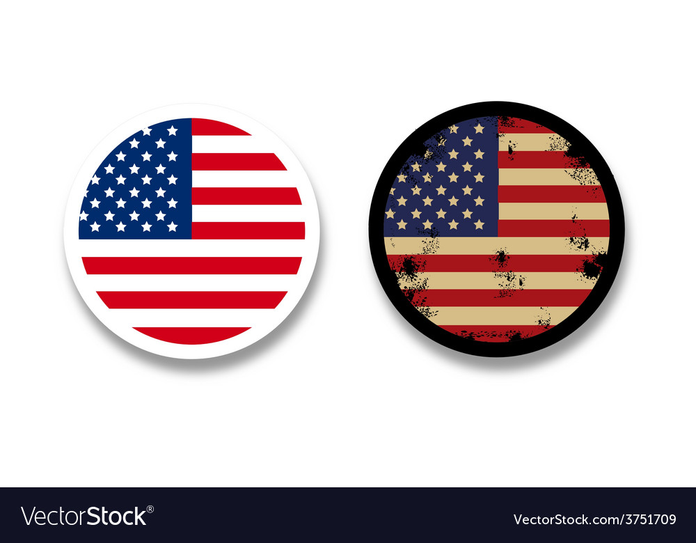 Grunge american flag badges vector | Price: 1 Credit (USD $1)