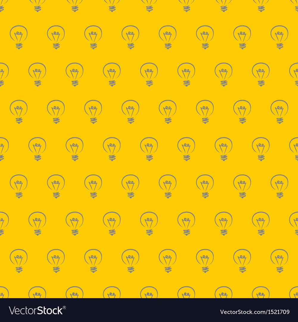 Hand drawn light bulbs on sunny yellow background vector | Price: 1 Credit (USD $1)