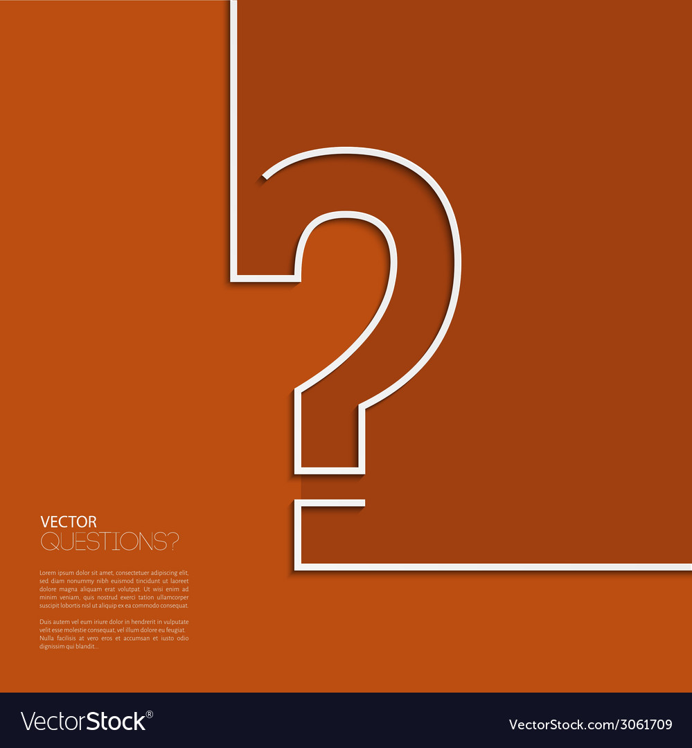 Question mark icon in flat design vector | Price: 1 Credit (USD $1)