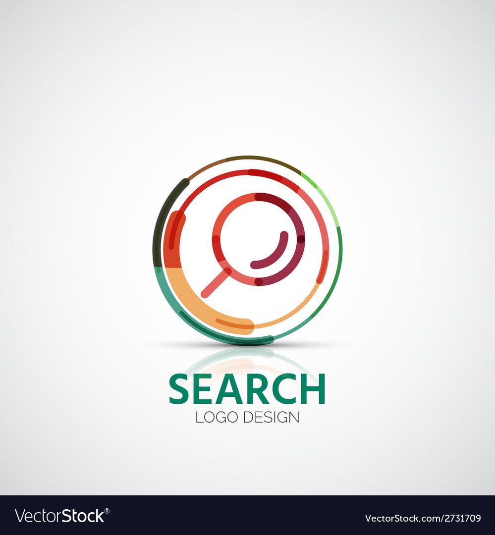 Search company logo business concept vector | Price: 1 Credit (USD $1)