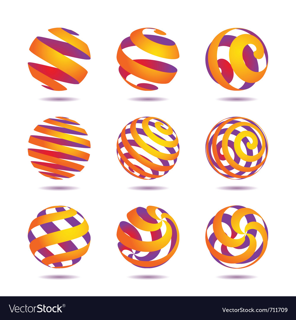 Sphere design elements vector | Price: 1 Credit (USD $1)
