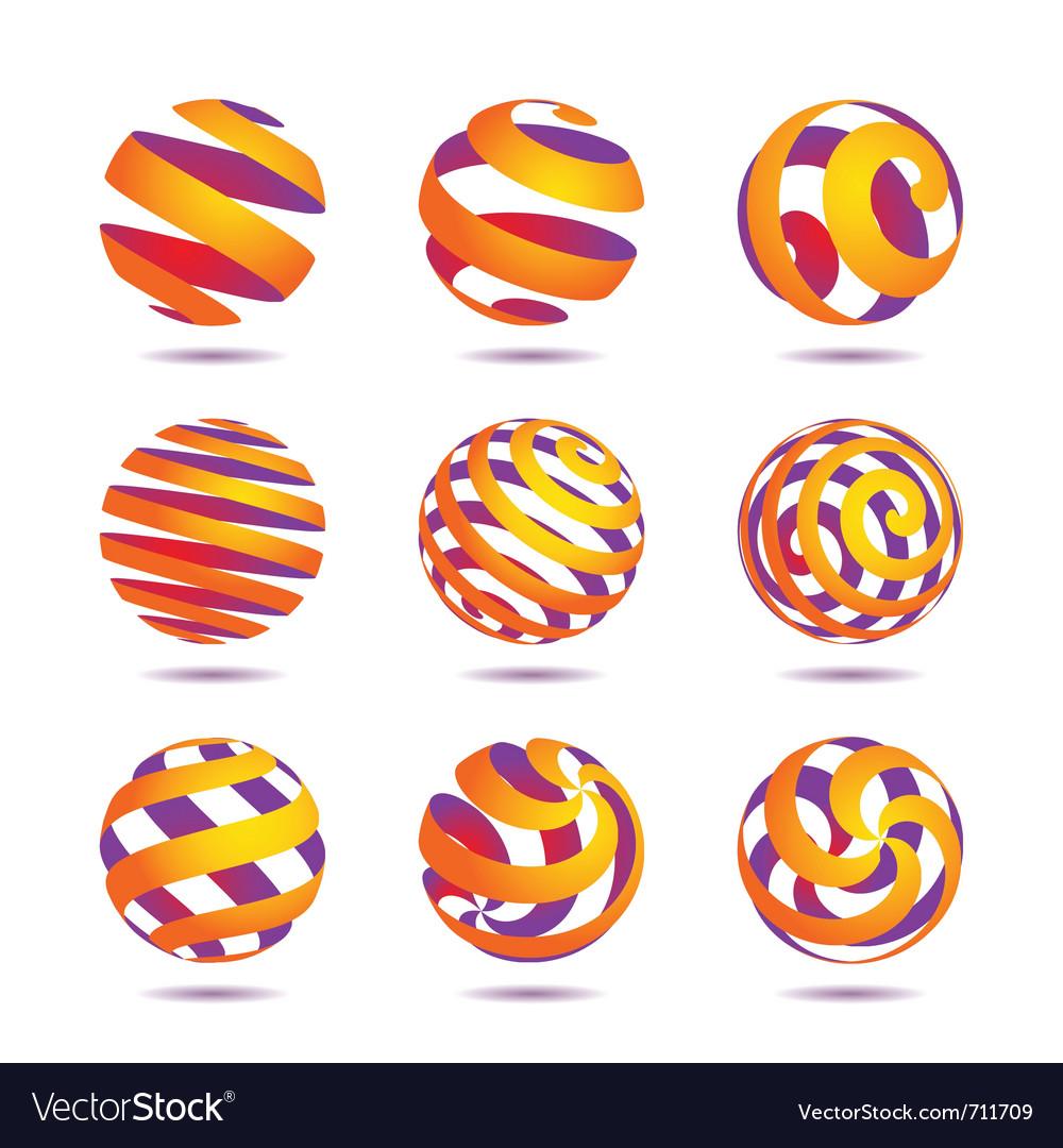 Sphere design elements vector | Price: 1 Credit (USD $1)