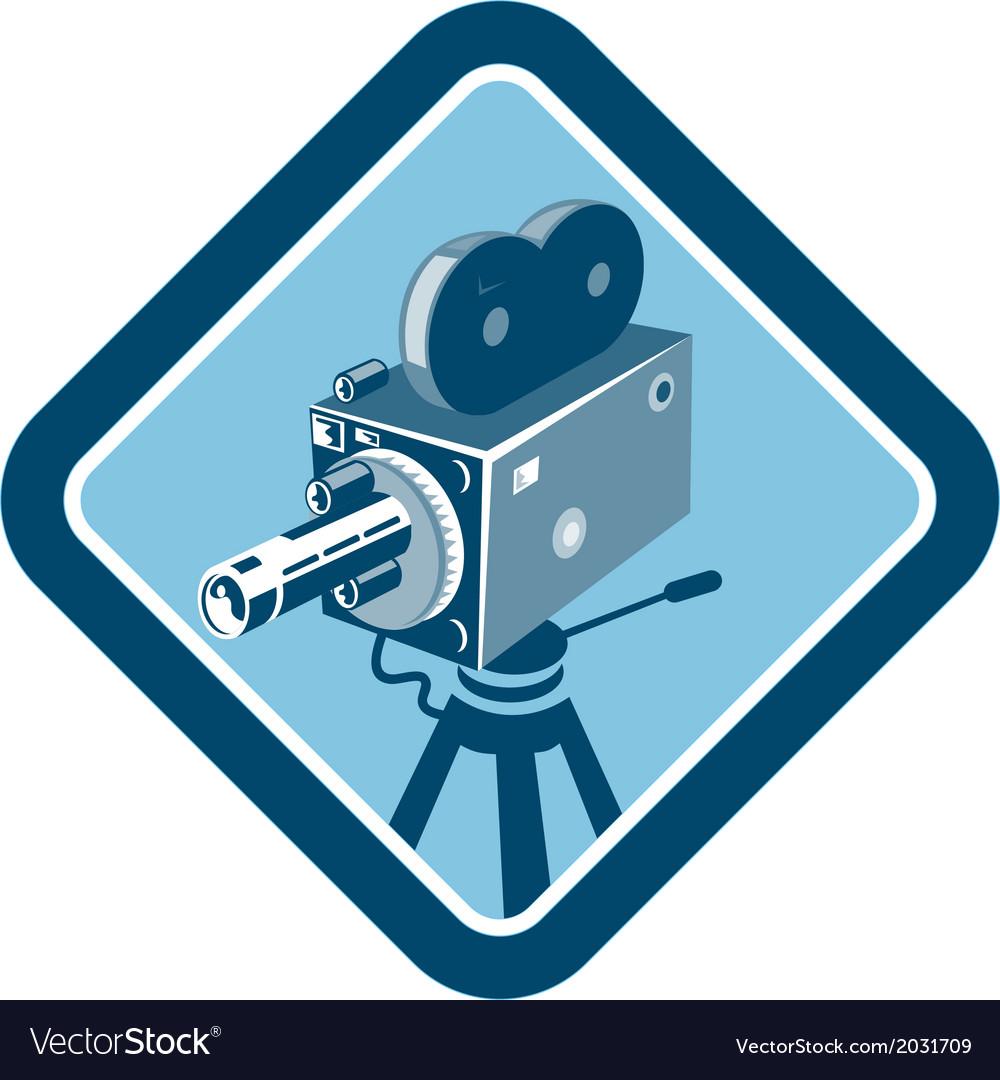 Vintage movie film camera retro vector | Price: 1 Credit (USD $1)