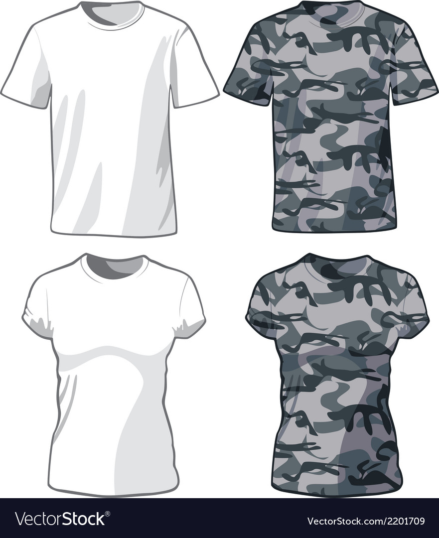 White and military shirts template vector   Price: 1 Credit (USD $1)