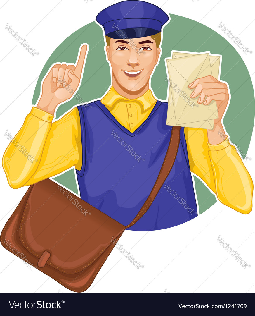 Young postman vector | Price: 3 Credit (USD $3)