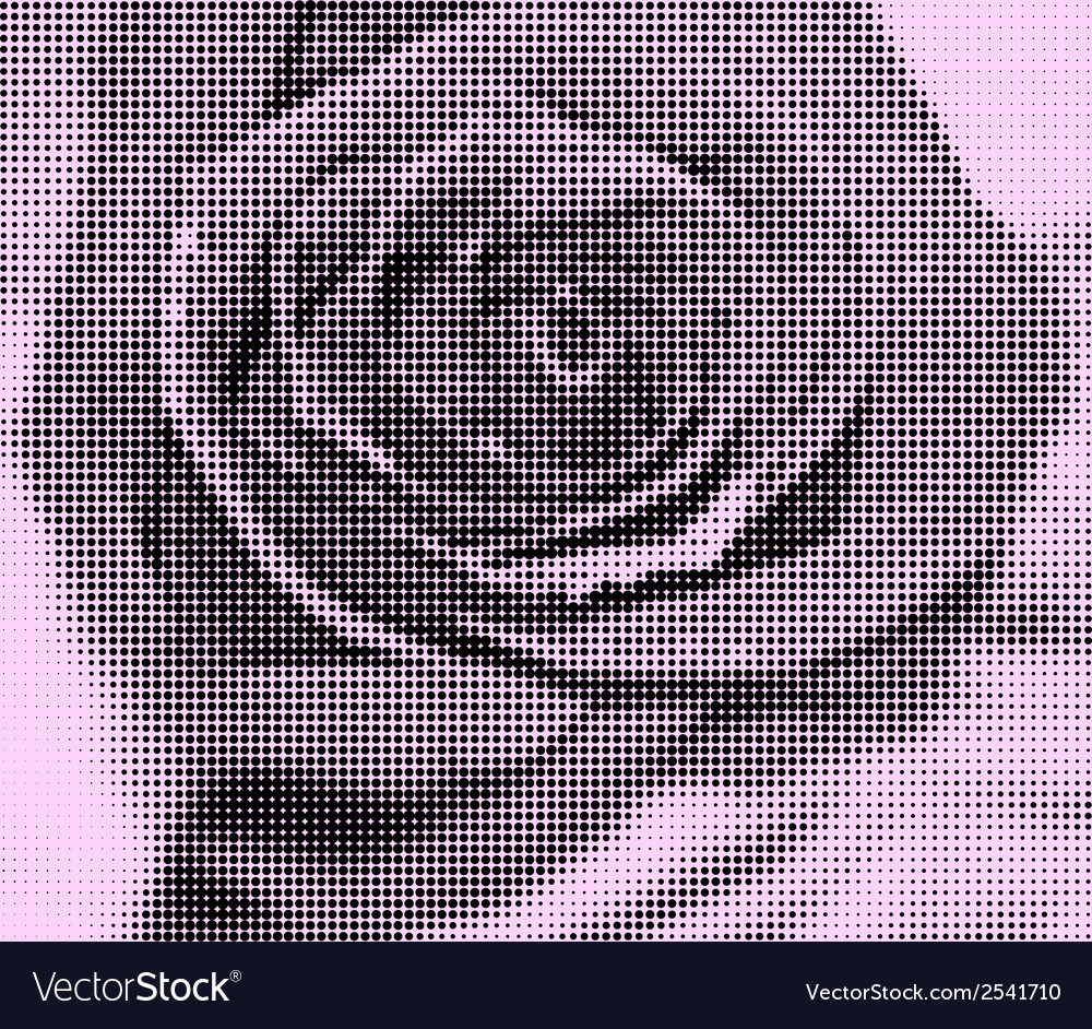Background roses created with black circles and vector | Price: 1 Credit (USD $1)