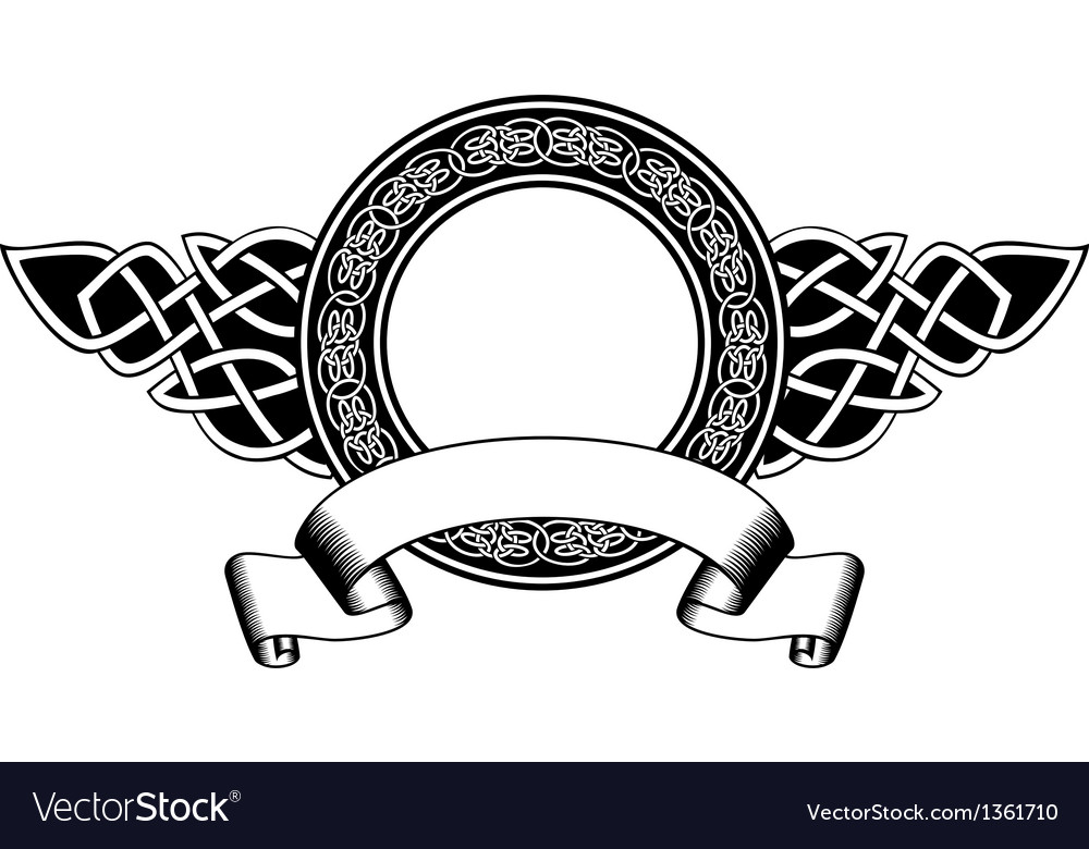 Celtic frame vector | Price: 1 Credit (USD $1)