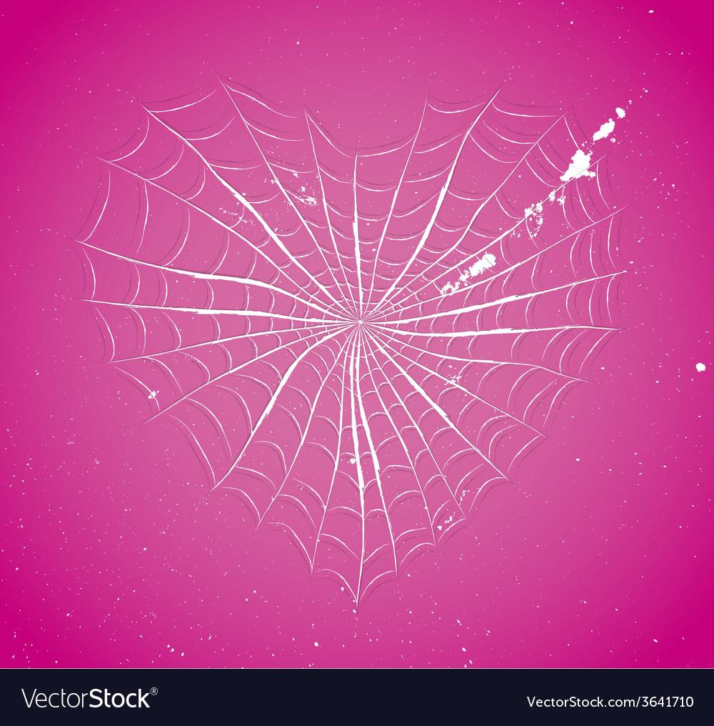 Cobweb heart vector   Price: 1 Credit (USD $1)