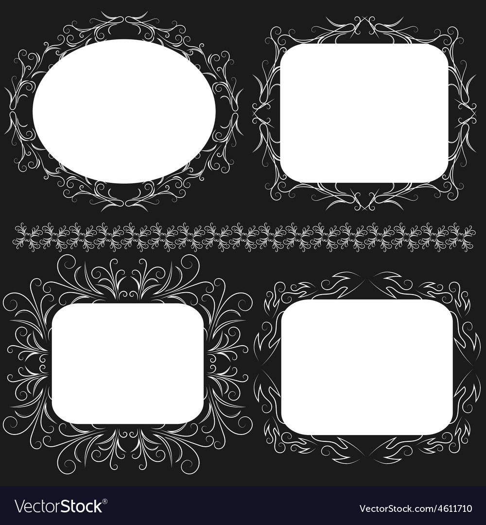 Decorative frame set vector | Price: 1 Credit (USD $1)