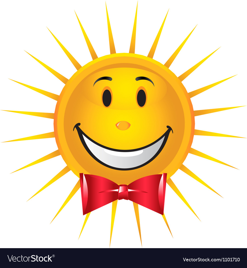 Happy sun vector | Price: 1 Credit (USD $1)