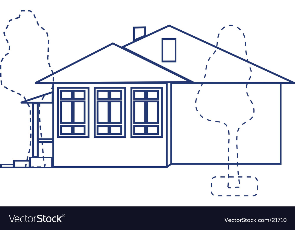 House project vector | Price: 1 Credit (USD $1)