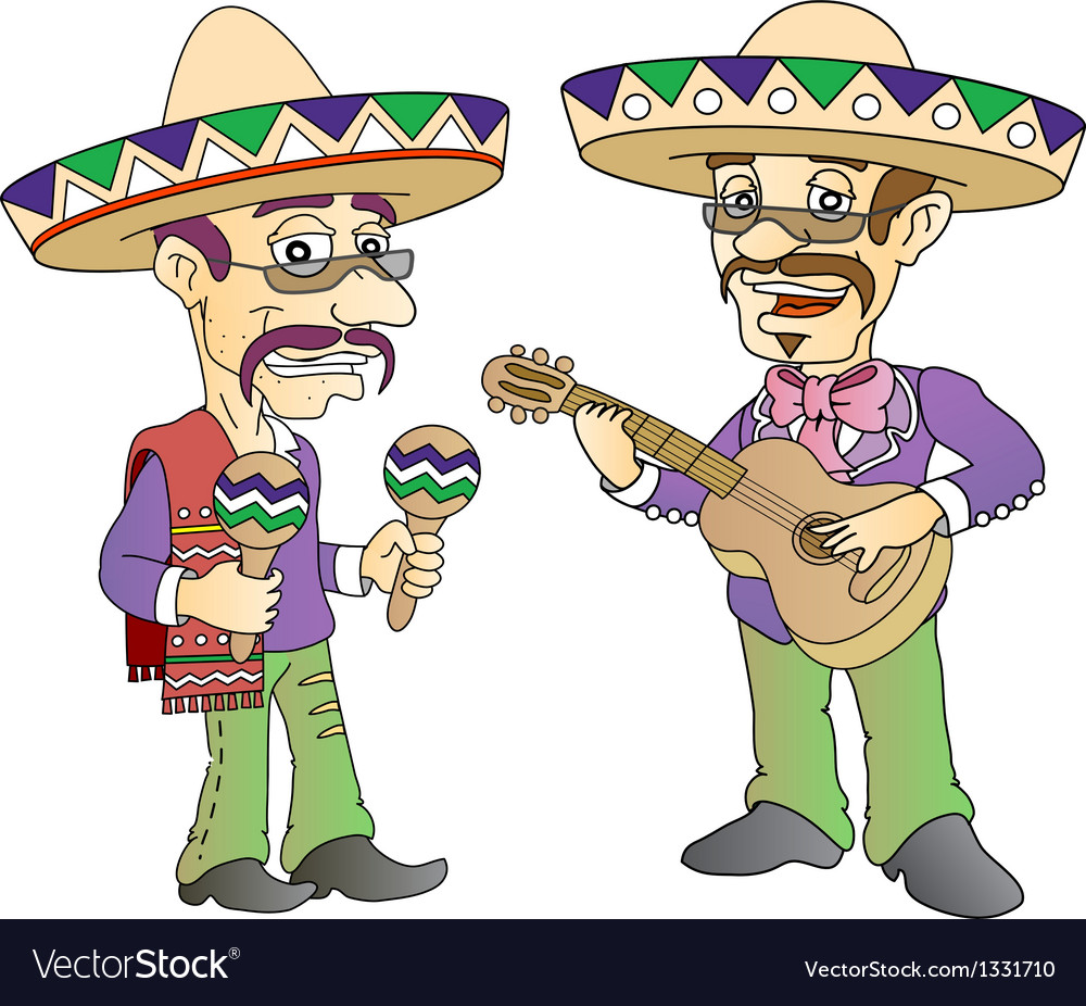 Mexican musician vector | Price: 3 Credit (USD $3)