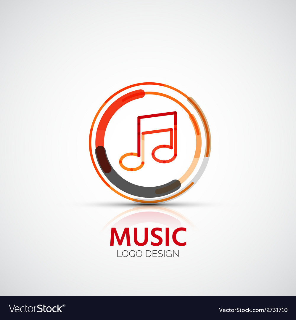 Music company logo business symbol concept vector | Price: 1 Credit (USD $1)