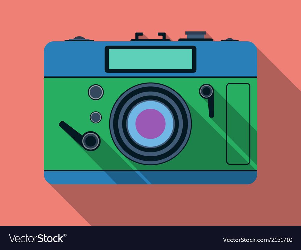 Retro photo camera vector | Price: 1 Credit (USD $1)