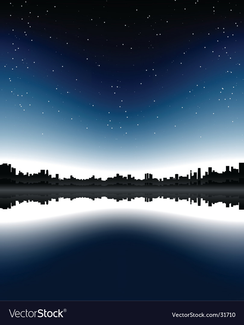 Urban skyline night vector | Price: 1 Credit (USD $1)