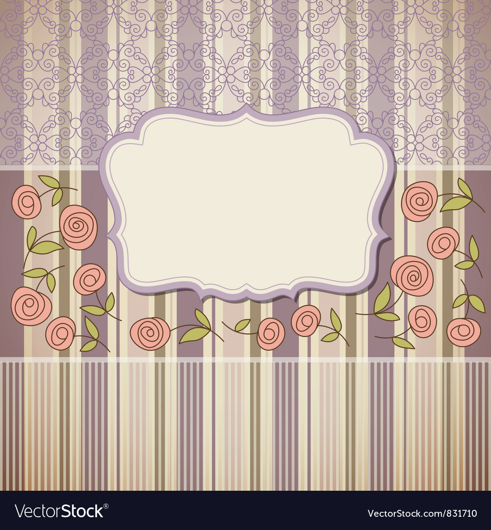 Vintage backgroundgreeting card or invitation vector | Price: 1 Credit (USD $1)
