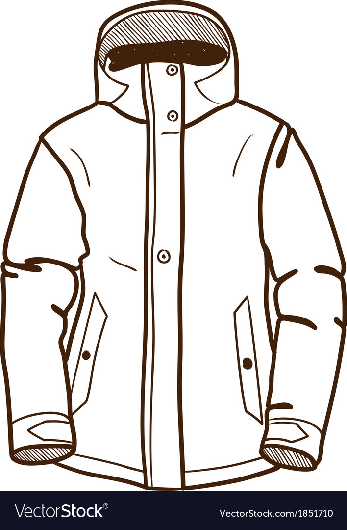 Winter sport jacket isolated on white vector | Price: 1 Credit (USD $1)